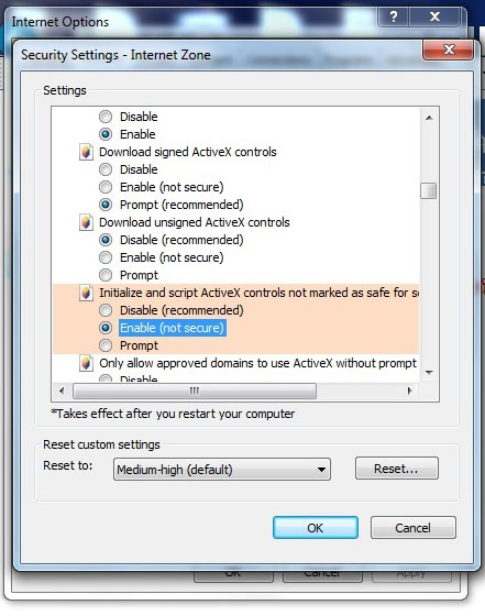 Initialize and script ActiveX