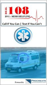 Mobile app for 108 ambulance service to track caller's location
