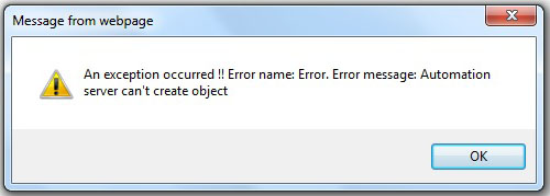 Automation server can't create object